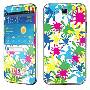 Samsung [Galaxy Note 2] Phone Skin - [SkinGuardz] Full Body Scratch Proof Vinyl Decal Sticker with [WallPaper] - [White Colorful Splash] for Samsung Galaxy [Note 2]