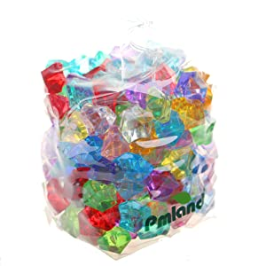 PMLAND Acrylic Jewels Gems, Bulk 1 Pound per Bag, Approximately 160 Pieces, Assorted Colors