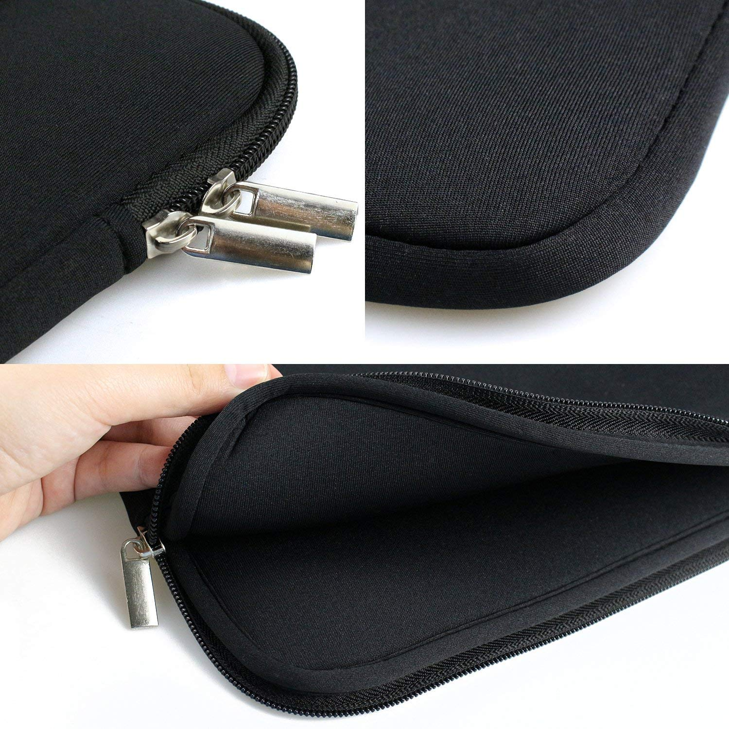 Sammid 15.6 inch MacBook Case,Protective Notebook Carrying Case Cover for Most 15.6 inch Laptop, Notebook, MacBook etc - Black