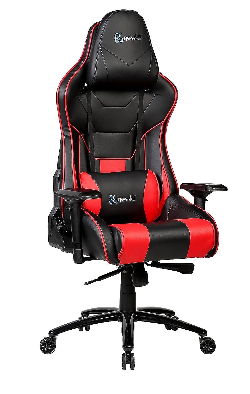 Silla para ordenador, oficina, ergonomica, roja