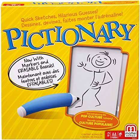 Mattel Games 887961236088 Pictionary Quick Draw Guessing Game With