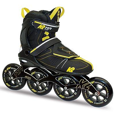 K2 Skate Men's Mod 110 Inline Skate, Gray Black Yellow, 6 : Sports & Outdoors