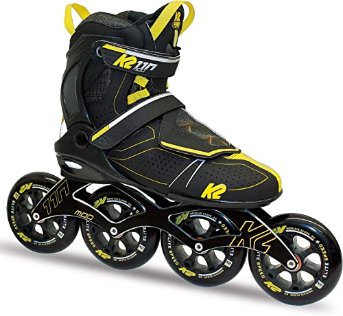 K2 Skate Men s Mod 110 Inline Skate, Gray Black Yellow, 6