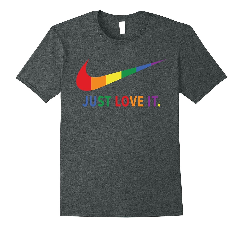 6fba318166 Rainbow Lesbian Gay Pride Lgbt Just Love It T Shirts-PL – Polozatee