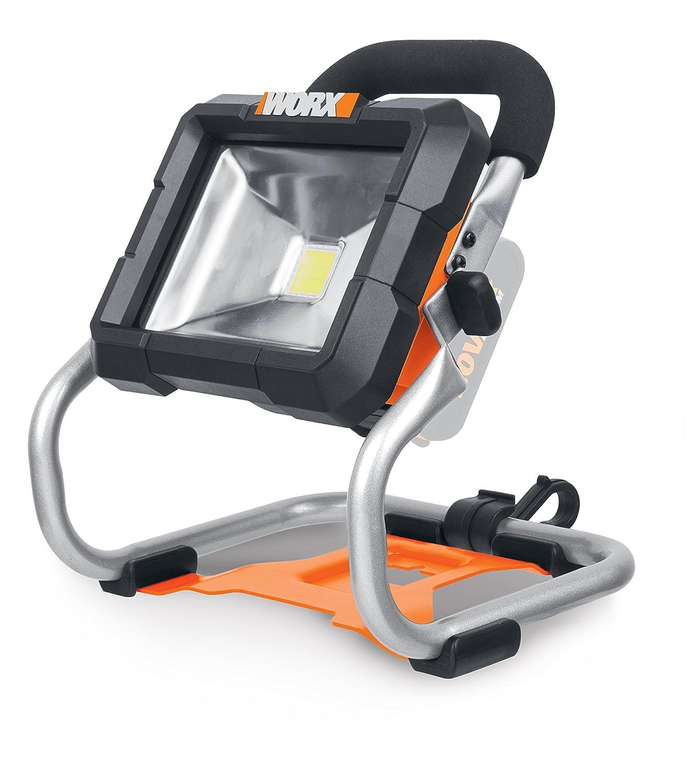 WORX WX026.9 LED Akku Arbeitsleuchte 20V – 360 Grad schwenkbarer Baustrahler mit LED Licht für die perfekte Arbeitsbeleuchtung – Ohne Akku & Ladegerät