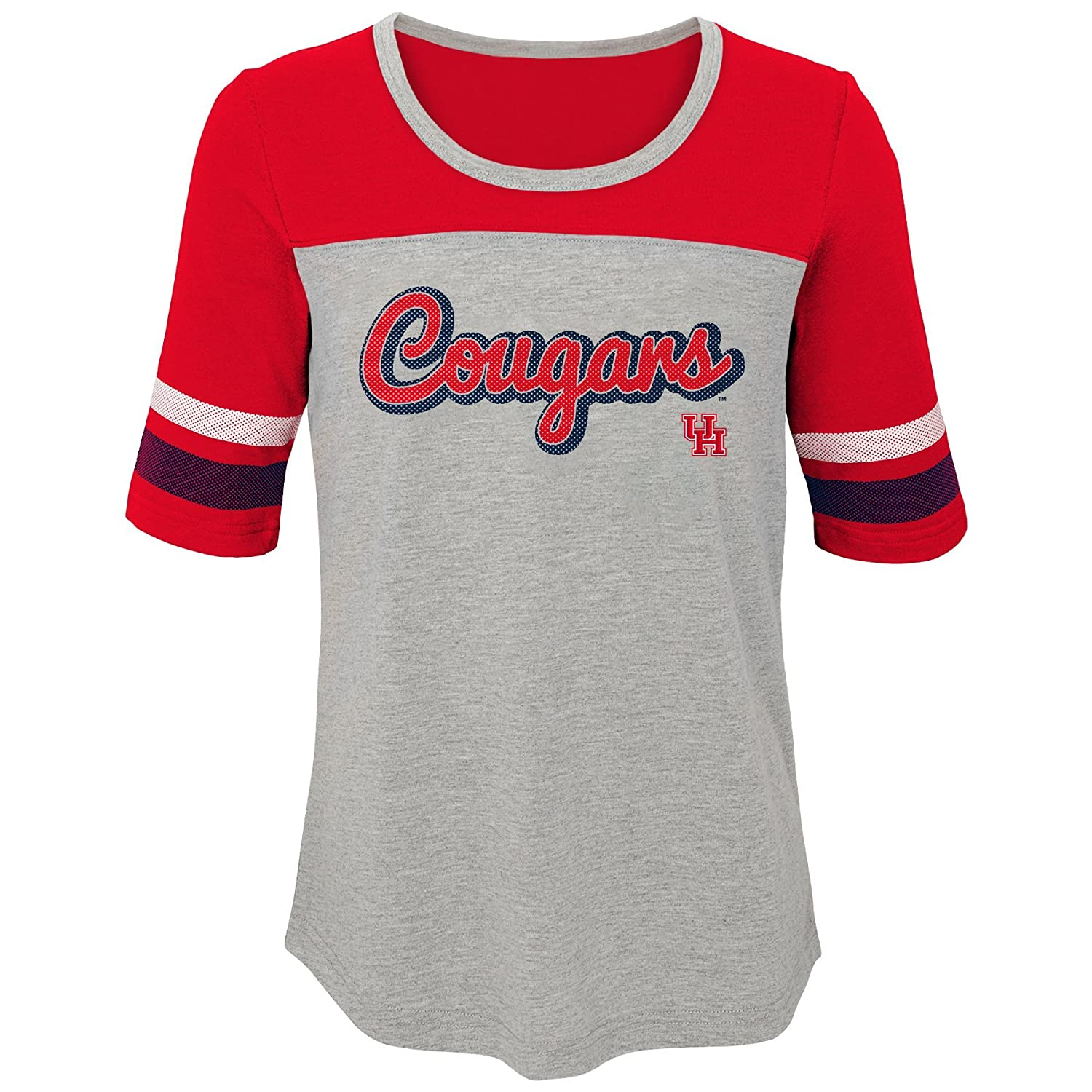 Youth Large NCAA by Outerstuff NCAA Houston Cougars Youth Girls Fan-Tastic Short Sleeve Tee 14 Red