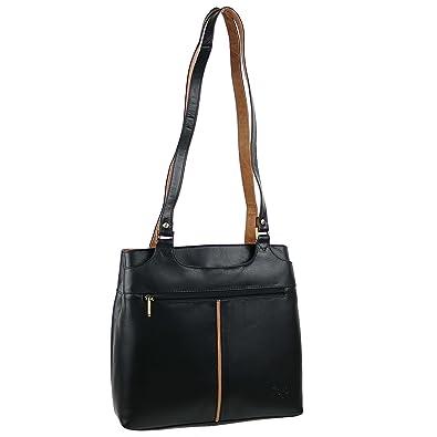 GIGI Ladies Leather Handbag Othello Collection Stylish Two-Tone Classic
