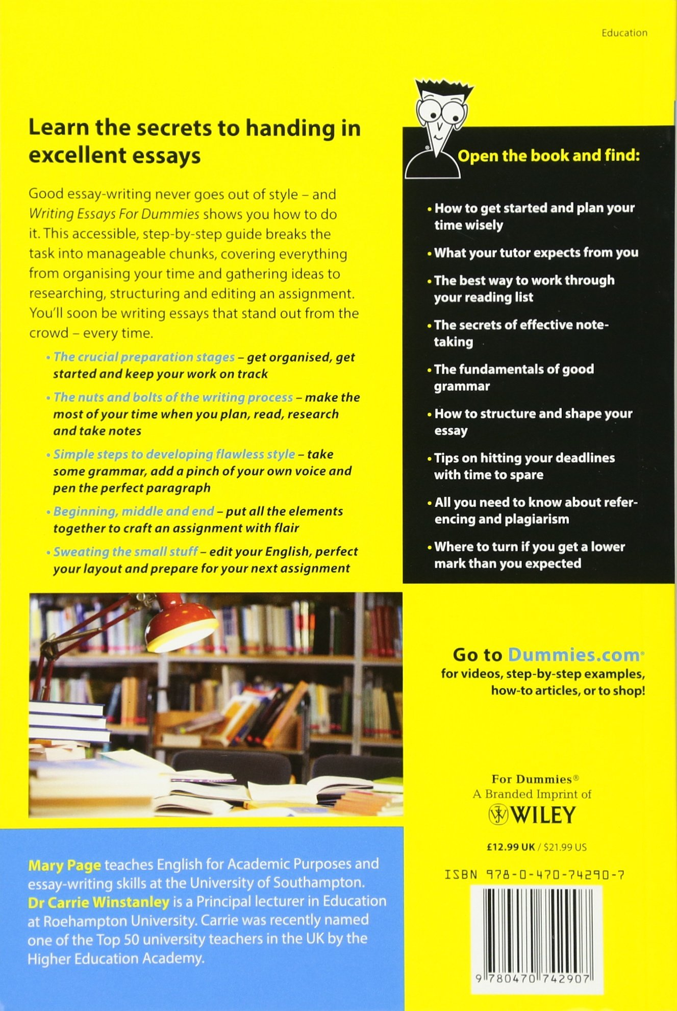 College essay writing for dummies