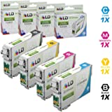 LD Products Remanufactured Ink Cartridge Replacement for Epson 69 ( Black,Cyan,Magenta,Yellow , 4-Pack )