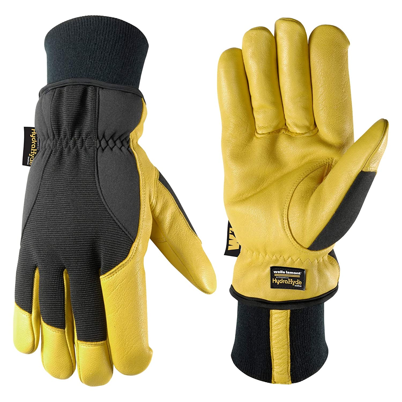 Men's HydraHyde Winter Gloves, Very Warm 100-gram Thinsulate, Grain Goatskin, X-Large (Wells Lamont 1206XL)