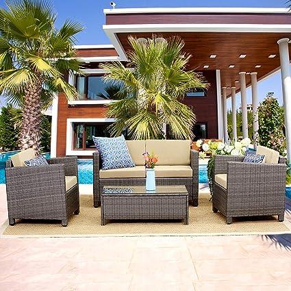 Amazon Com Wisteria Lane Outdoor Patio Furniture Set 5 Piece
