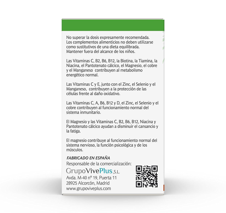 Vive+ Vitaminas Plus, Suplemento Alimenticio - 2 Paquetes de 50 Cápsulas: Amazon.es: Salud y cuidado personal