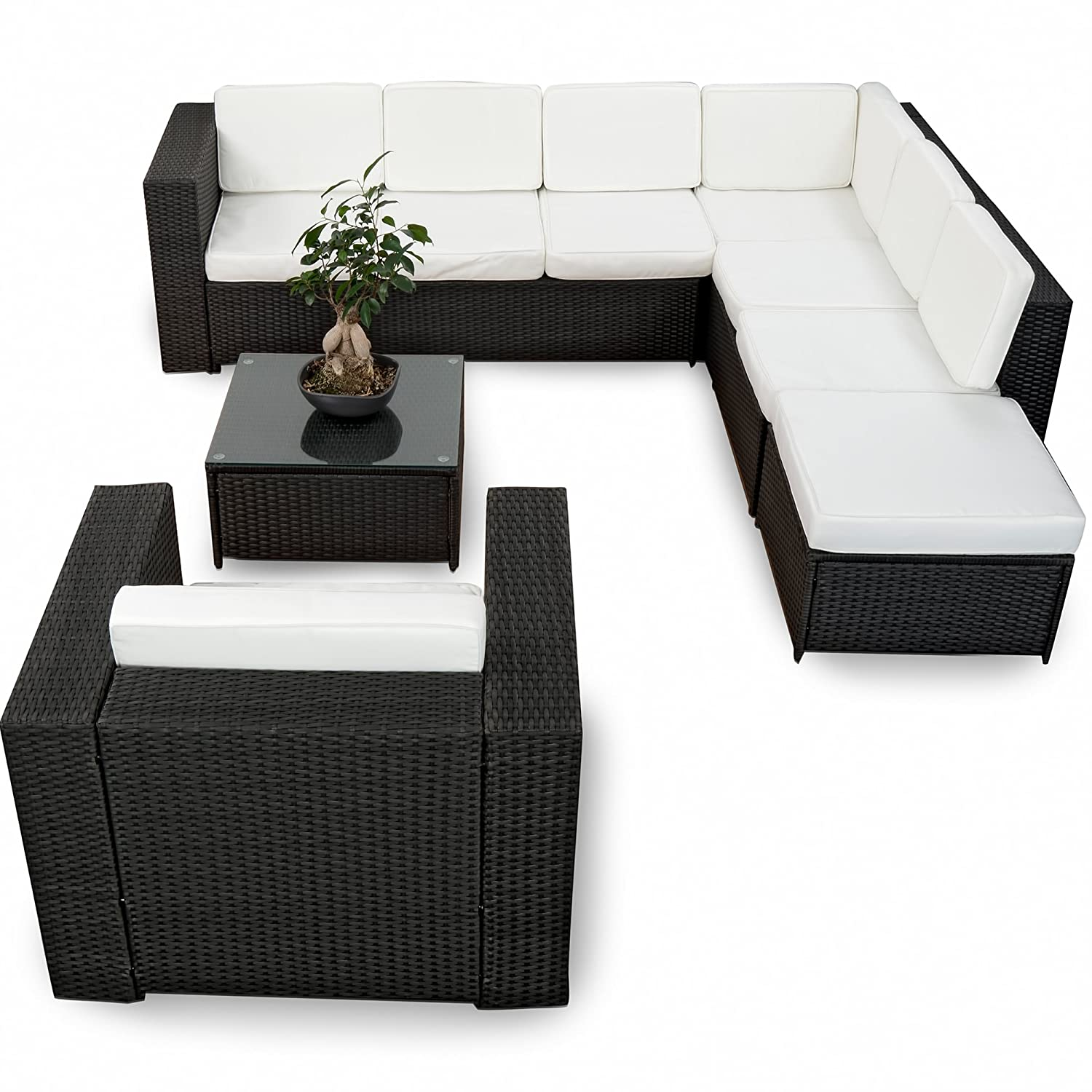 xinro xxl 22tlg gartenm bel lounge set g nstig 1x 1er lounge sessel lounge m bel. Black Bedroom Furniture Sets. Home Design Ideas