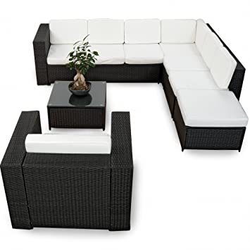 Loungemöbel indoor günstig  Amazon.de: XINRO XXL 22tlg. Gartenmöbel Lounge Set günstig + 1x ...
