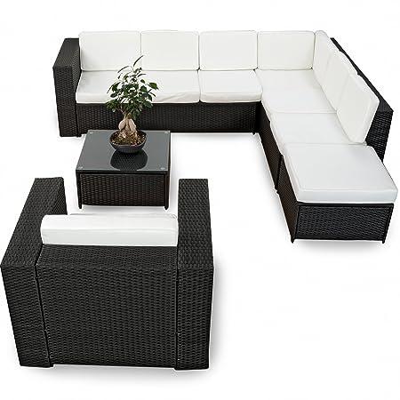 Amazon.de: XINRO 22tlg. Polyrattan Gartenmöbel Lounge Set (Modell ...