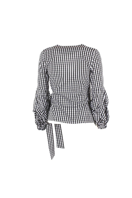 KAOS Blusa Donna 42 Nero/Bianco Kpjtm015 Primavera Estate 2018:  Amazon.co.uk: Clothing