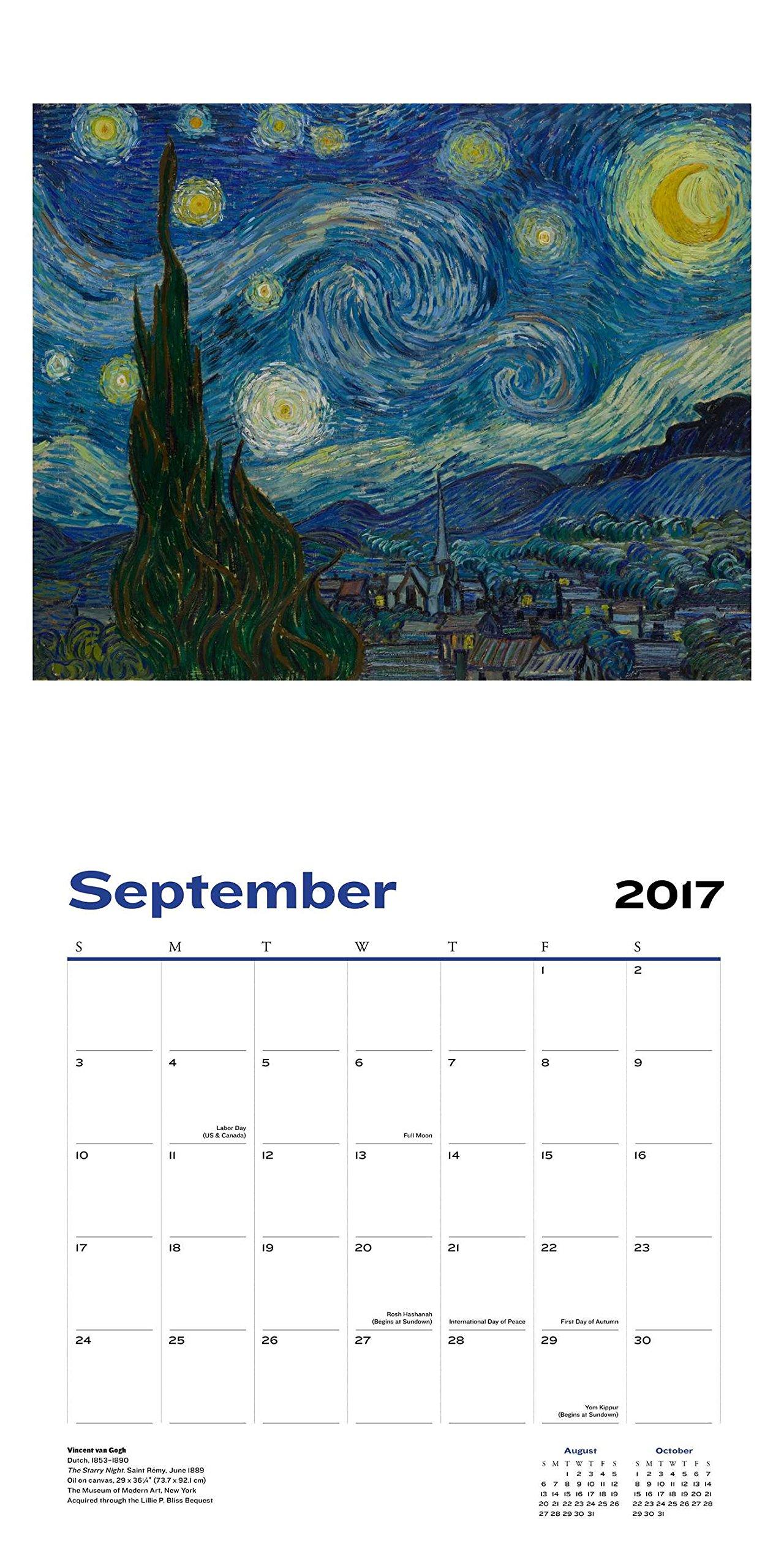 Modern Art Wall Calendar 2017