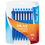 Paper Mate InkJoy 300RT Ballpoint Pens, Medium Point, Red Barrel, Blue Ink, 8 Count