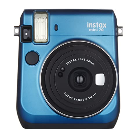 Fujifilm Instax Mini 70 Instant Film Camera (Blue) Instant Cameras at amazon