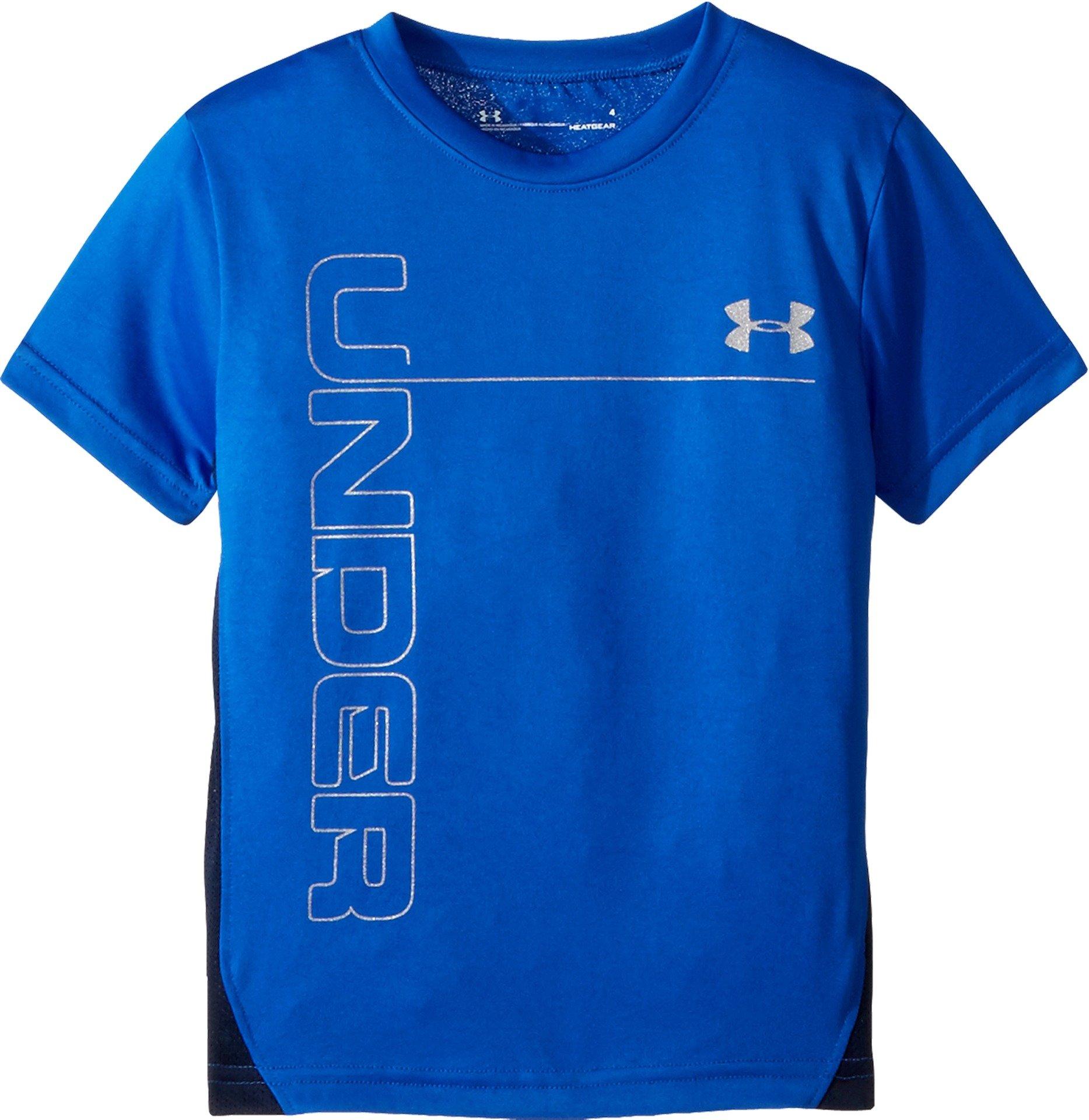 Under Armour Little Boys' Mesh Ua Tech Short Sleeve T-Shirt, Ultra Blue, 7
