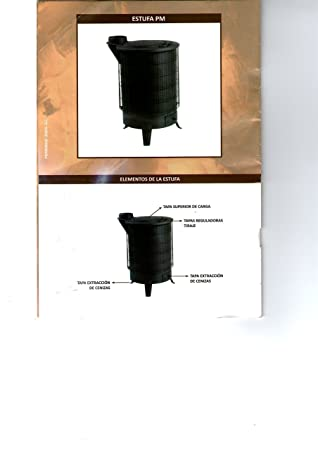 120 MM P.M. - Estufa Leña T.Relax Negra S/V 120 Mm P.M. 400X600 Mm: Amazon.es: Bricolaje y herramientas