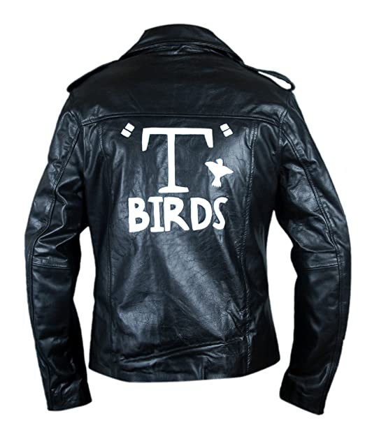 F&H Mens Grease T Birds Danny Zuko John Travolta Jacket ...