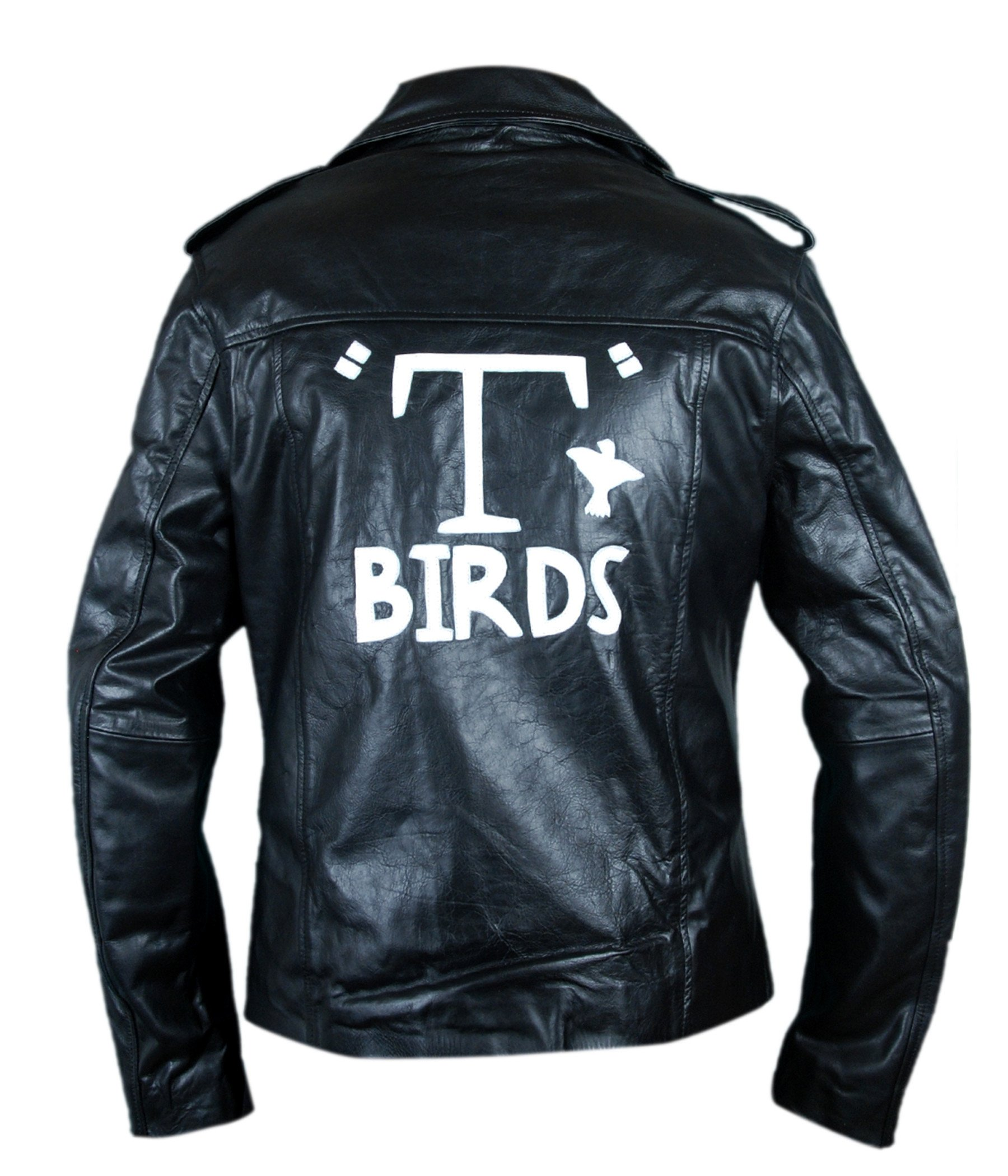 F&H Men's Grease T Birds Danny Zuko John Travolta Jacket XL Black by Flesh & Hide