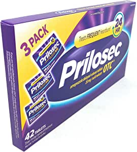 Prilosec OTC Delayed-release Acid Reducer, 3 Month Supply, 42 Count (Pack of 2)
