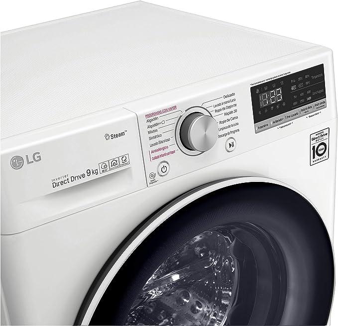 LG F4WV509S0 - Lavadora Inteligente 9 kg con tecnología AI Direct ...