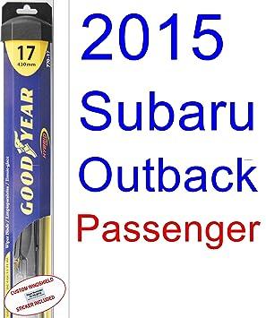 2015 Subaru Outback hoja de limpiaparabrisas de repuesto Set/Kit (Goodyear limpiaparabrisas blades-hybrid): Amazon.es: Coche y moto