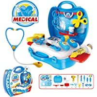 Popsugar Little Doctor Set with Stethoscope and Accessories for Kids,