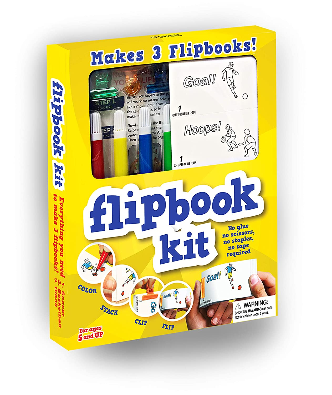 Fliptomania Kit de animación (Baloncesto y fútbol) Libro Animado ...