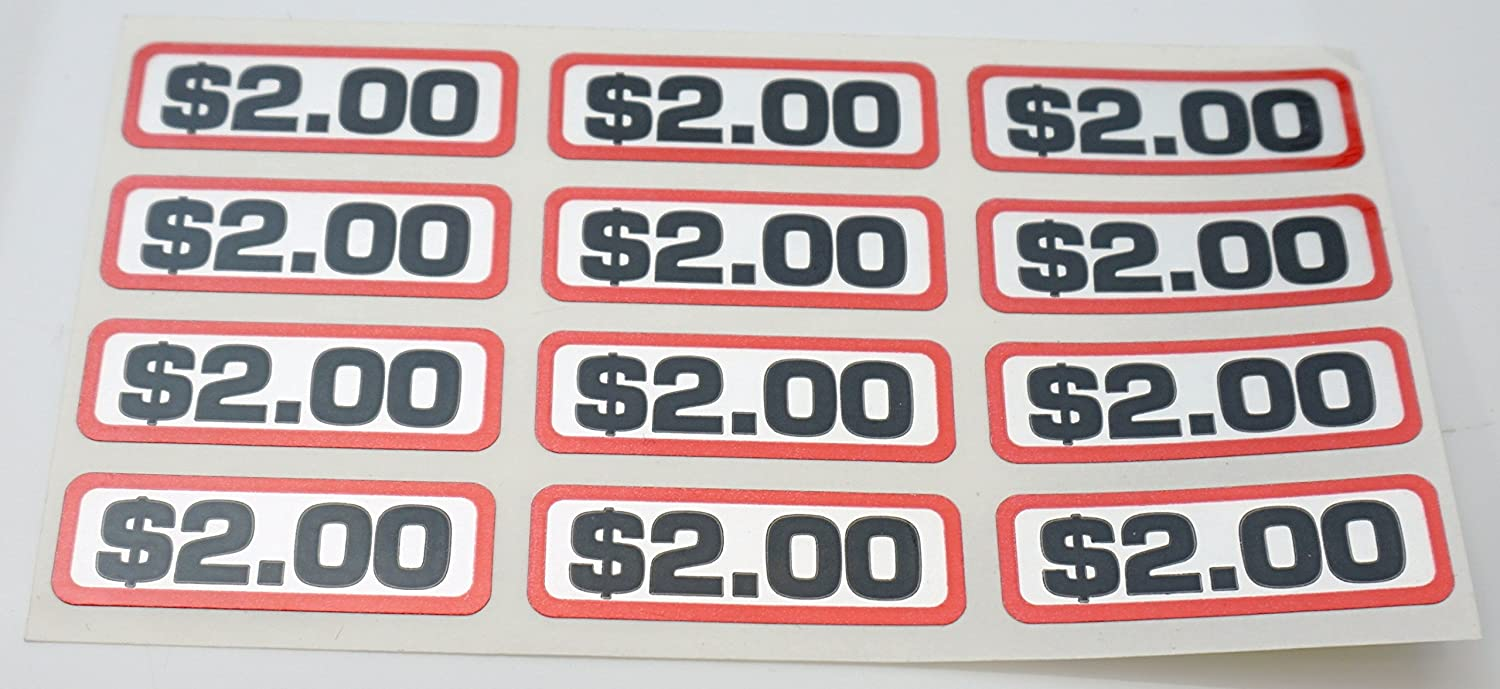 Seneca River Trading Commercial Laundry $2.00 Coin Slide Decal, 12 Pcs/Sht for Greenwald, 00-9104-26