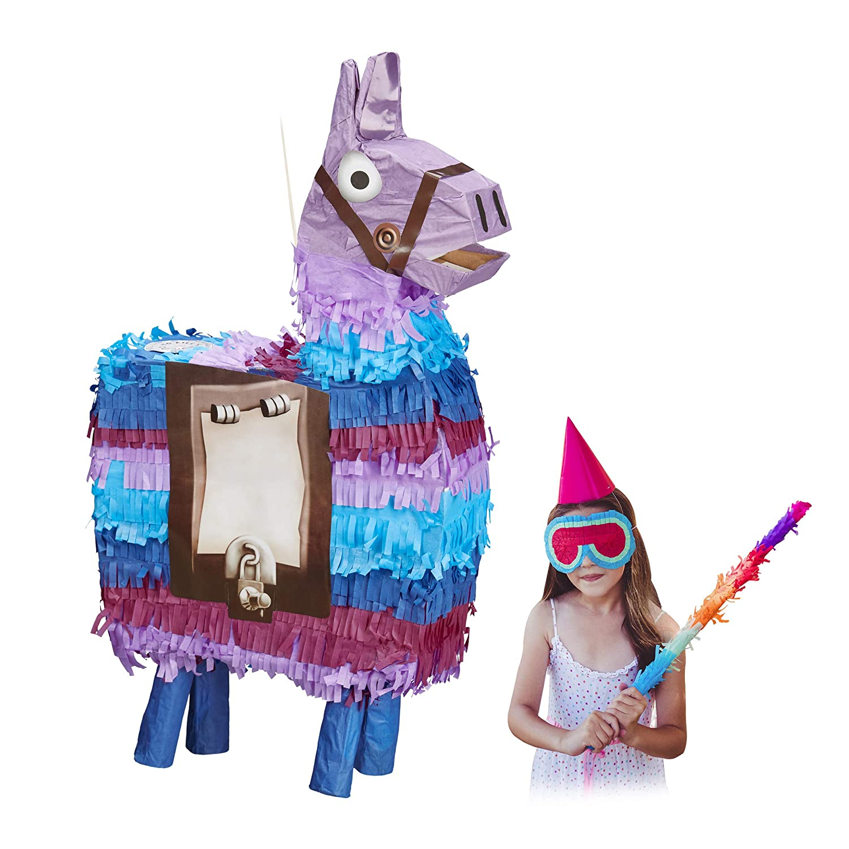 Relaxdays Piñata Llama sin Relleno, Decoración Cumpleaños ...