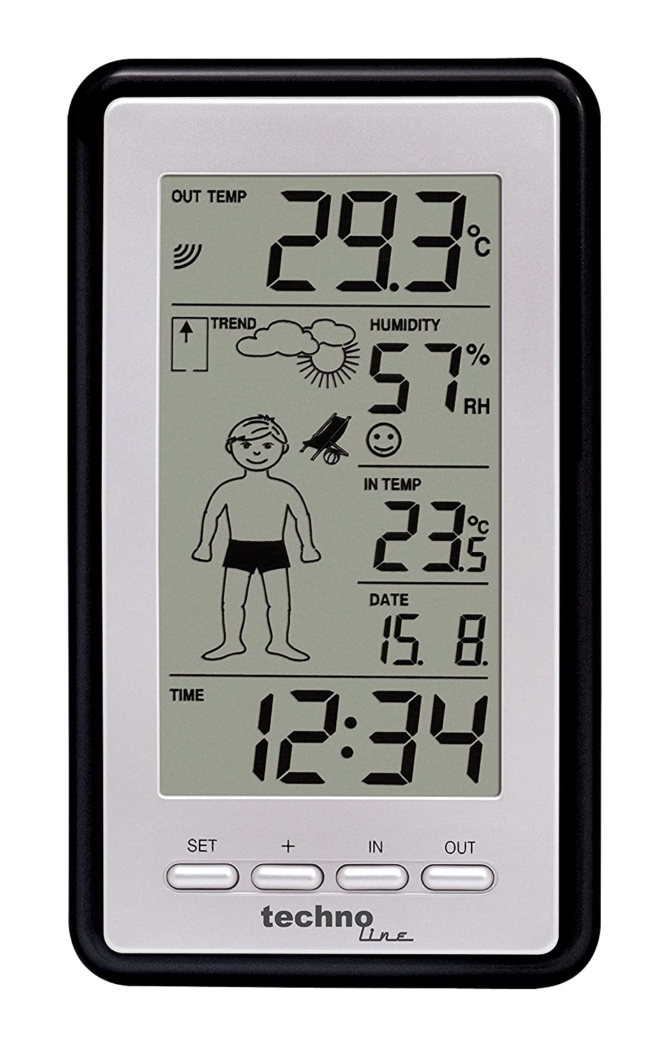 technoline ws 9632 it weather station with radio controlled clock