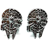 Teri's Boutique Star Wars Movie Lover Vintage Gothic Fighter Warship Mens Shirt Cuff Links with Gift Box
