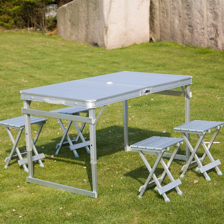 Amazon.com: Peach Árbol aluminio portable Mesa de picnic ...