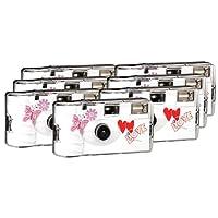 TopShot Love Hearts red Einwegkamera/Hochzeitskamera (27 Fotos, Blitz, 6+1 Pack)