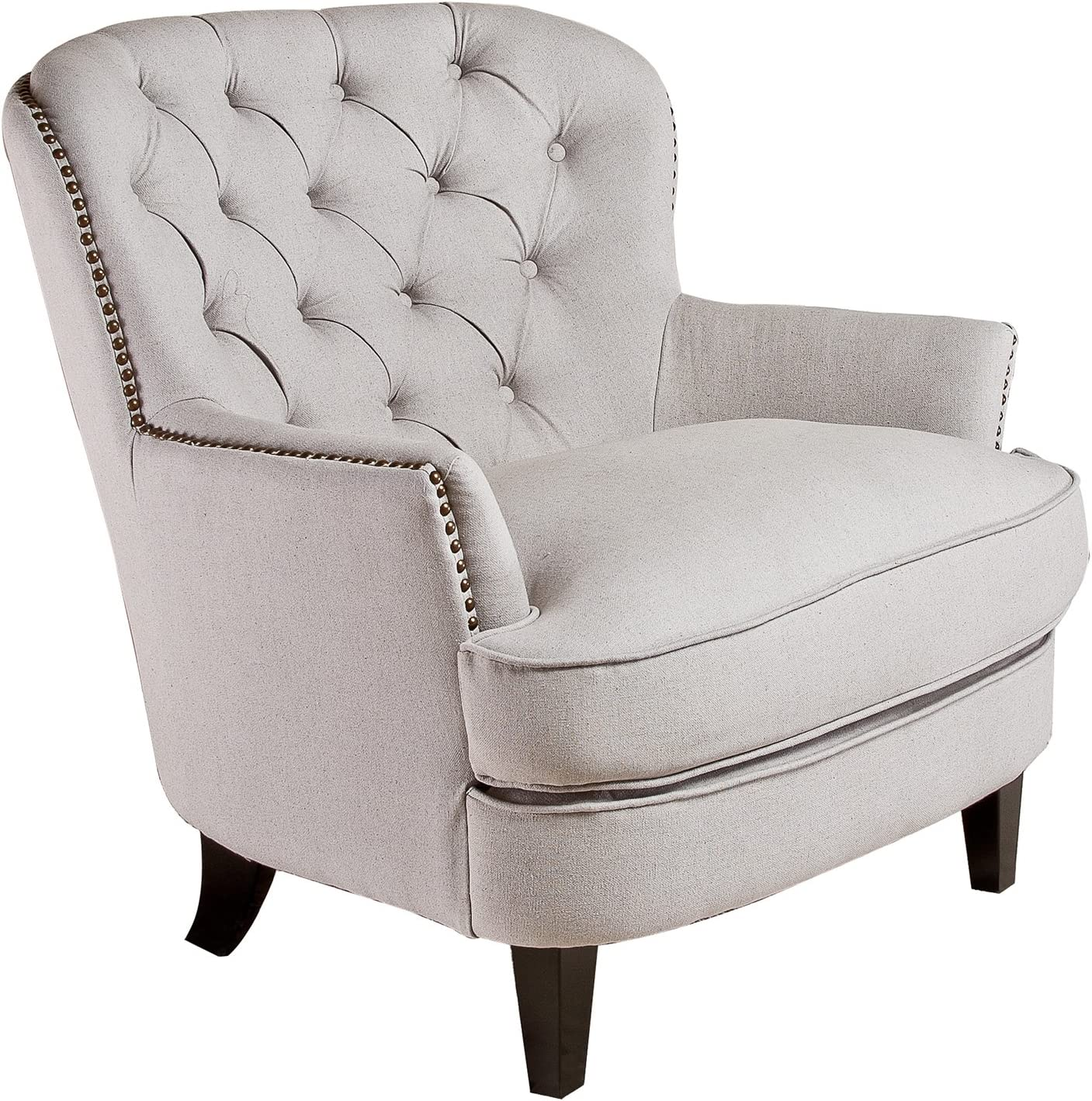 Christopher Knight Home Tafton Tufted Fabric Club Chair, Natural