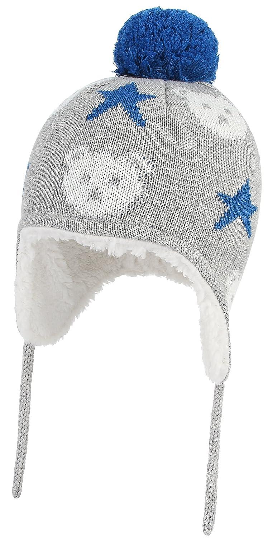 b21532f390db GEMVIE Bonnet Bébé Enfant Chapeau Pompon Cache Oreille Hiver Style Péruvien  Gris  Amazon.fr  Vêtements et accessoires