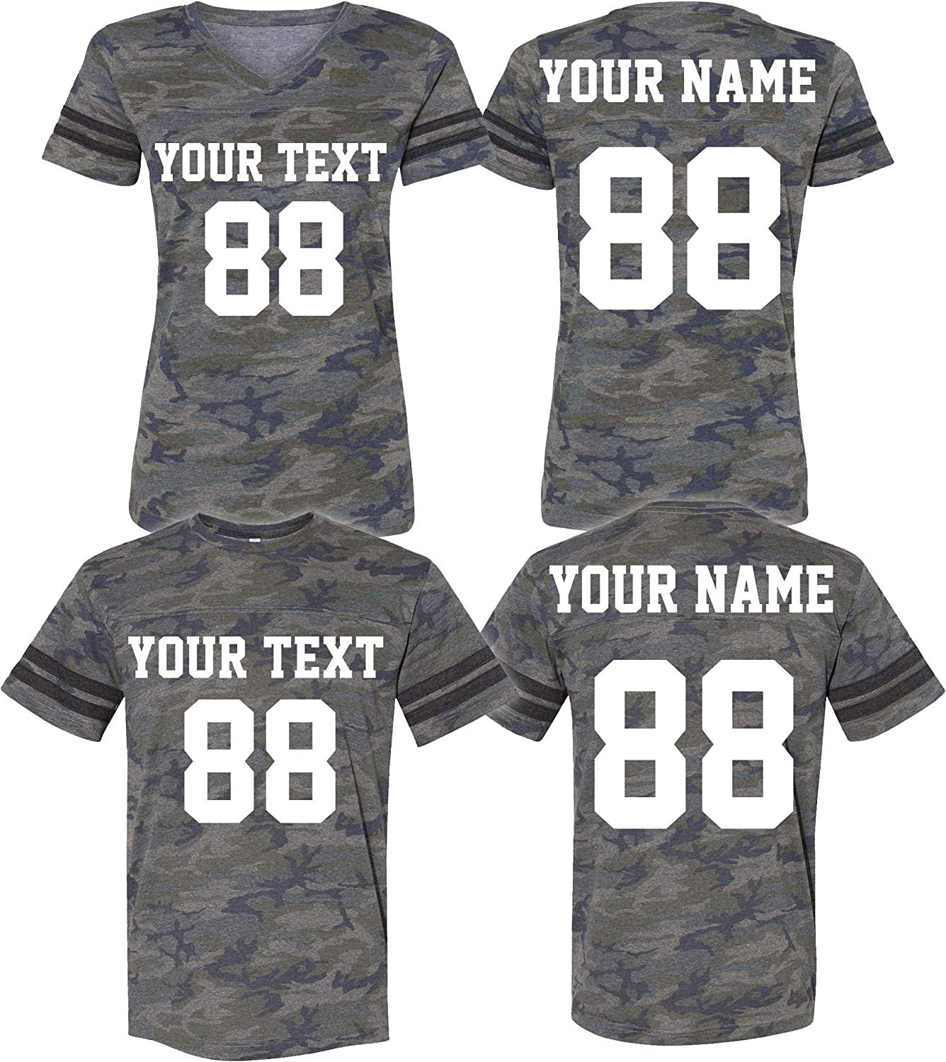 Custom 2 Sided Cotton Jerseys for Men & Women - Personalized Team Uniforms for Casual Outfit