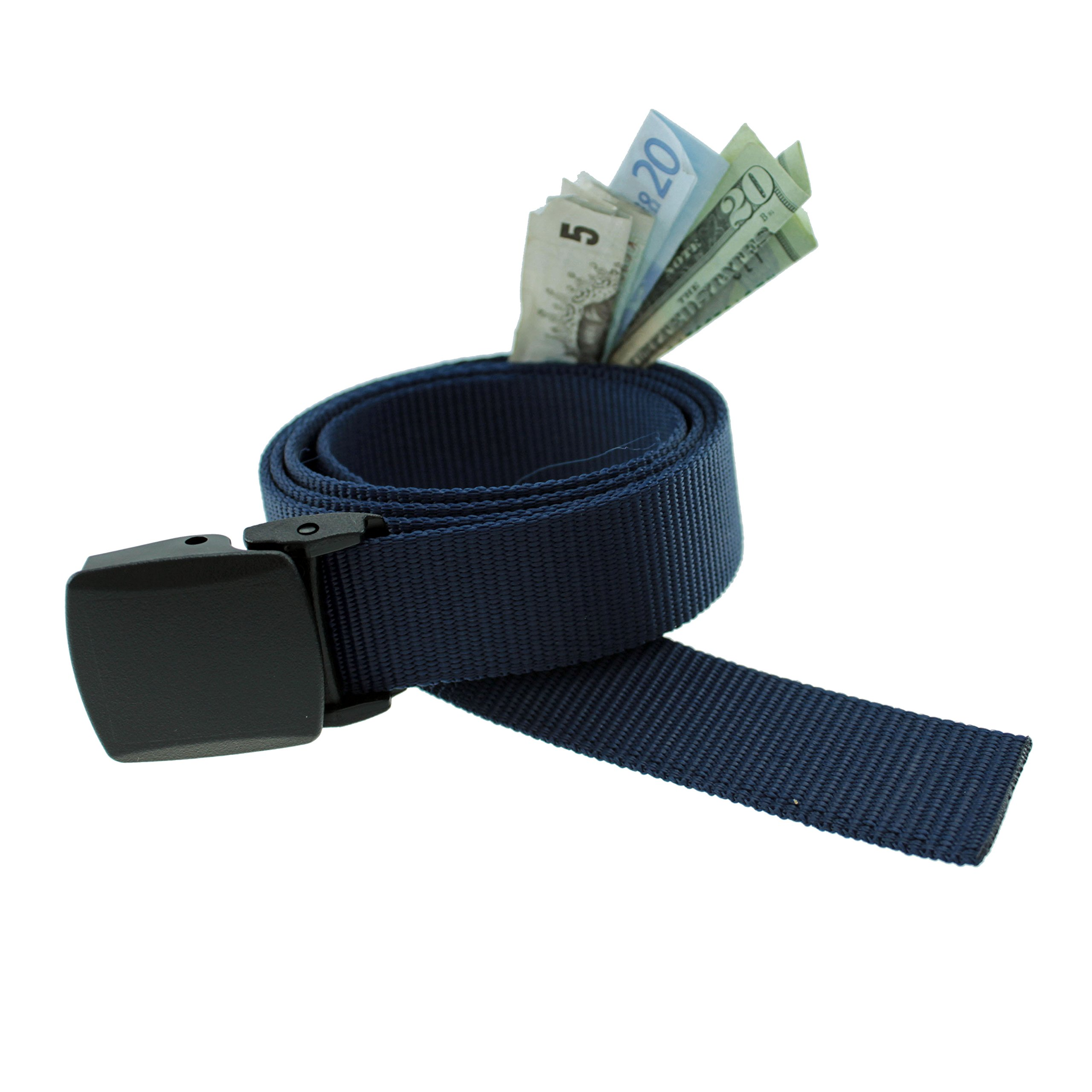 Trekker Money Belt made in USA by Thomas Bates (AS, Navy)