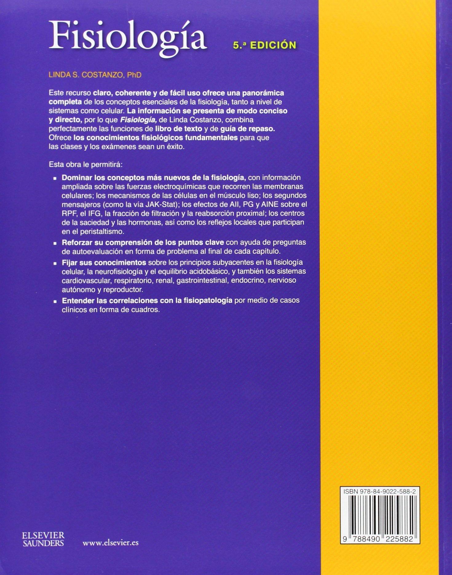 Fisiología - 5ª Edición: Amazon.es: Linda S. Costanzo: Libros