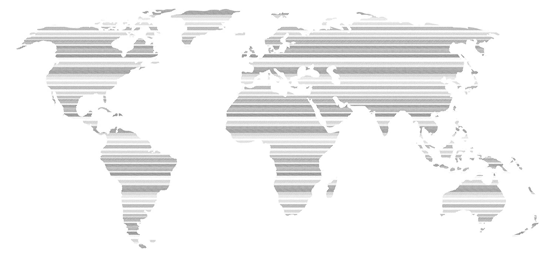 Pegatina de pared Salón Mapa del mundo con patrón integrado ...