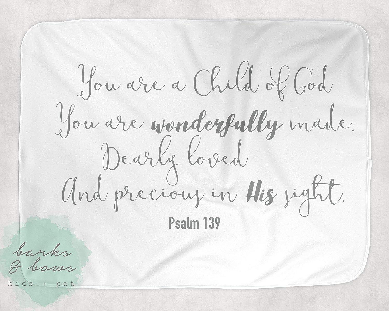 1caea2639 Amazon.com: Spiritual Baby Blanket Scripture Blanket Bible Verse Blanket  Baby Shower Gift Baptism Blanket: Handmade