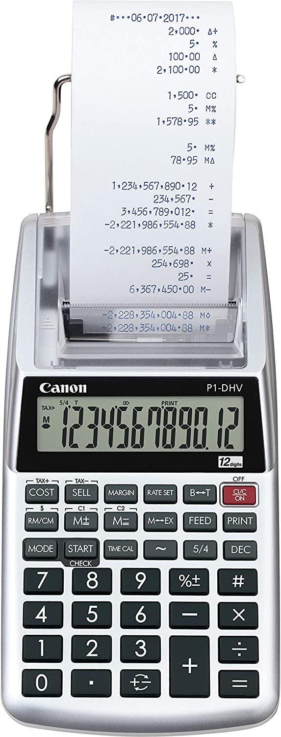 Canon P1-DHV-3 Printing Desktop Calculator