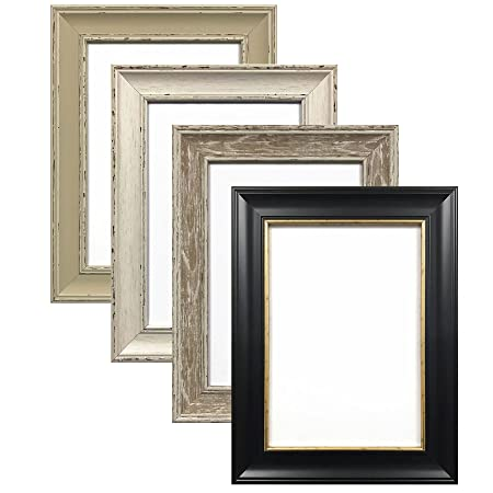 A1 GREY ( DISTRESSED, MATT FINISH) SHABBY CHIC FRAMES LARGE SQUARE ...