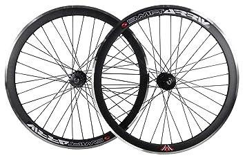 Deep V - 43 mm, ruedas fijas para bicicleta Fixie, una sola velocidad, con cubos giratorios, negro: Amazon.es: Deportes y aire libre