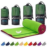 Microvezel handdoekenset - in ALLE afmetingen/18 kleuren - ultralicht, compact, sneldrogend - Microvezel handdoeken - de perfecte reishanddoek, strandlaken en sporthanddoek