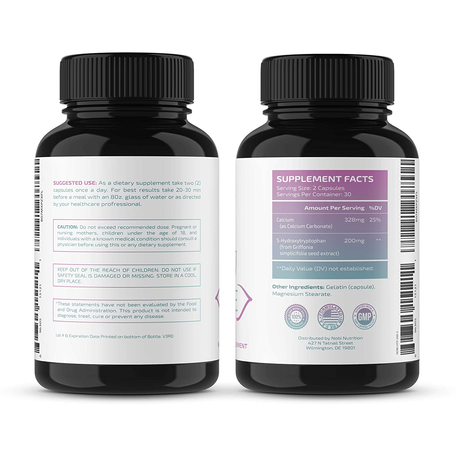 5-HTP 200mg Supplement - Naturally Helps with Mood, Brain Health, Sleep, and Relaxation - Calm...